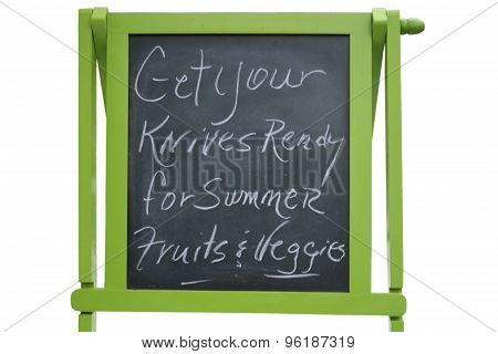 Chalkboard Advertising Knife Sharpening