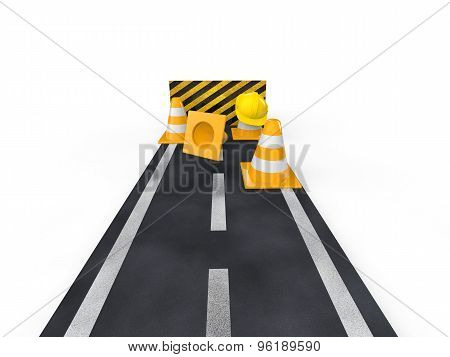3d road with closed end