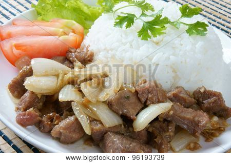 Vietnamese Food, Bo Luc Lac, Beef