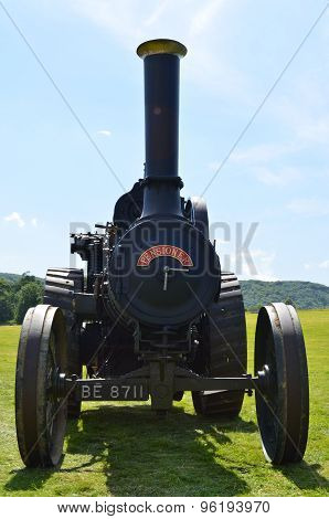 Victorian steam traction engine.