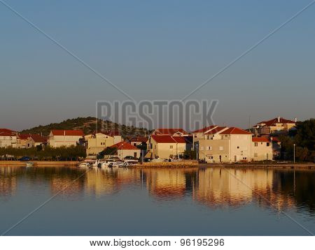 The bay of the Croatian village Betina