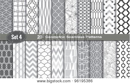 Geometric Seamless Patterns., Pattern Swatches Included For Illustrator User, Pattern Swatches Inclu