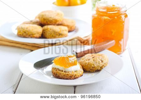 Carrot And Rosemary Scones