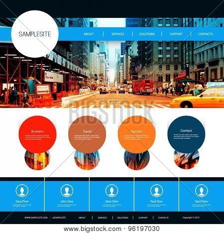 Website Design for Your Business with One Street of New York City Image Background