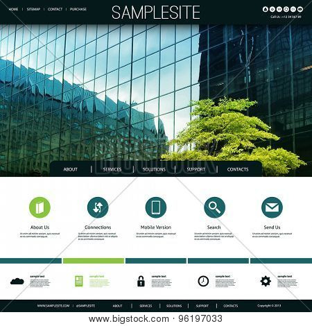 Website Design for Your Business with Skyscraper Windows and a Tree Image Background
