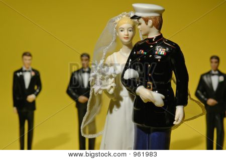 Military Bridal Couple 001