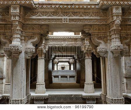 Adalaj Step Well In Ahmadabad, India