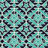 picture of tribal  - Tribal turquoise and navy geometric tribal seamless pattern - JPG