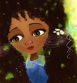 picture of fantastic  - African girl fantastic  cute  doll face portrait - JPG