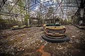 Постер, плакат: Abandoned Bumper Cars In Pripyat