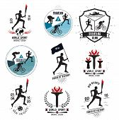 picture of torches  - A set of Sports logos - JPG
