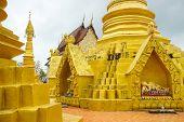 foto of buddhist  - Golden stupa in buddhist temple - JPG
