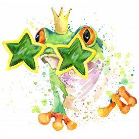 image of cute frog  - cool frog T - JPG