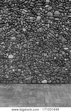 Image of black & white stones, Interior background