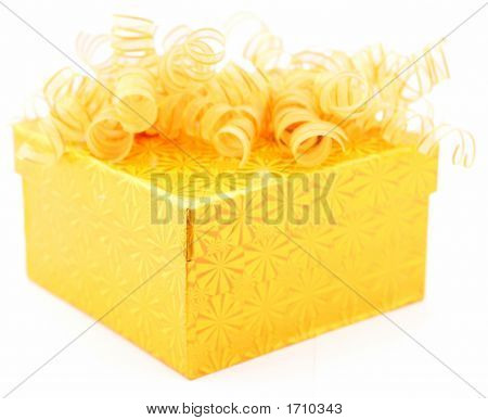 yellow fun gift box