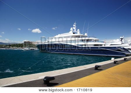 Super Yacht In Antible