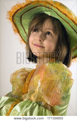 little girl in the carnival clothes