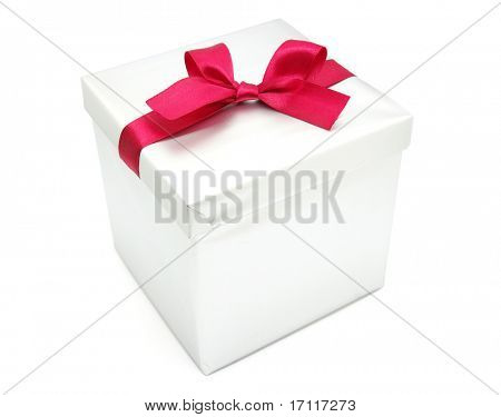 gift box over white