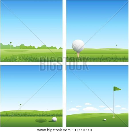 Four golf backgrounds