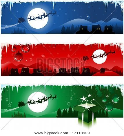 Tree Christmas banners