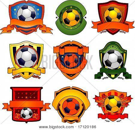 Vector soccer emblems