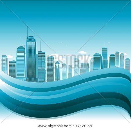 抽象城市背景 库存矢量图和库存照片