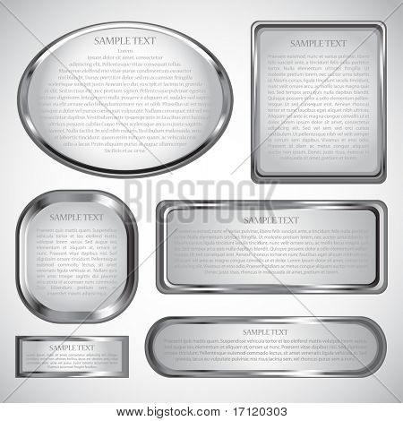 Silver vector label