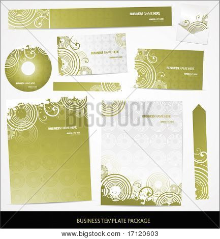Vector business card set and letterhead