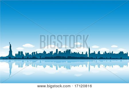 New Yrok City skyline vector illustration