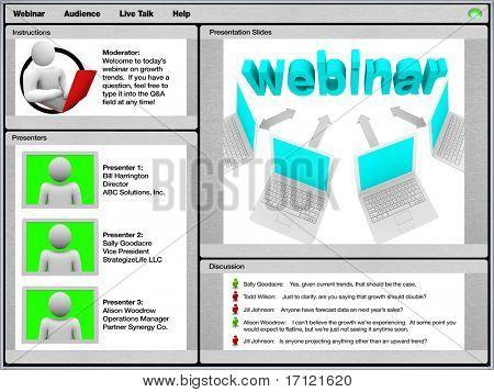Ein Beispiel-Screenshot von einem Webinar auf einem computer