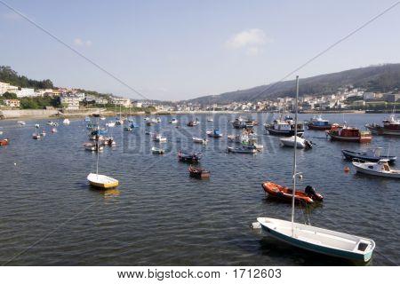 Fishing Boats Atlantic Coast Galicia Spain