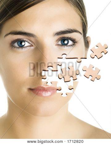 Puzzlespiel Gesicht