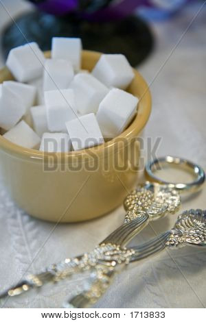 Sugar Cubes On Table
