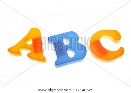 ABC letters isolated on white