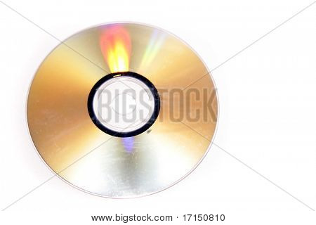 Compact disc isolated on white