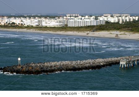 Shore Scene In Cape Canerval Florida