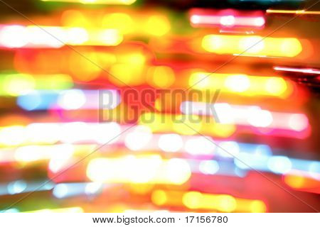 Colorful blurs