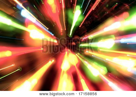 Multiple light streaks background