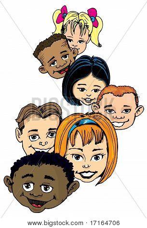 Cartoon Of Group Of Children