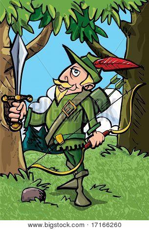 Cartoon Robin Hood In The Woods