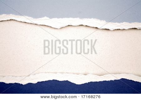Ripped  paper on blank background for copy