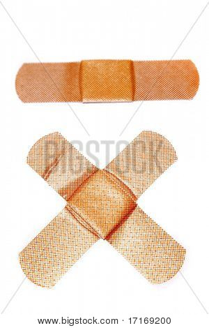 Band-aids isolated on white background