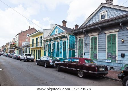 Street Scene In The French Quarter In New Orleans
