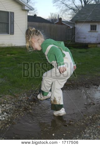 Girl In The Mud