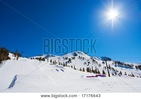 The Mountain, Blue Sky day at Ski Resort