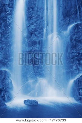 Relaxing Waterfall, Detailed rocks with flowing water