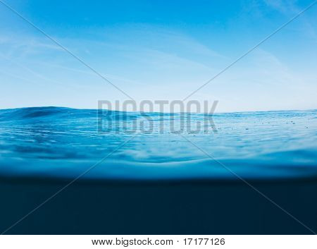 Blue Ocean Surface, Beautiful Seascape