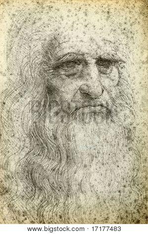 Leonardo da Vinci Selbstporträt, 1512
