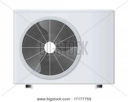 air conditioner rasterized vector illustration isolated with clipping path