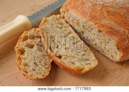 Brown Healthy Delicilous Bread With Slices